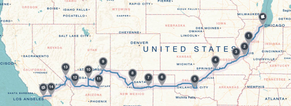 Our Route 66 Itinary